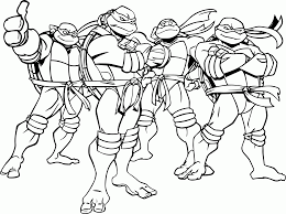 After coloring the ninja turtle green, cut out the eyes and pierce two holes at each side of the face and tie an elastic string. Teenage Mutant Ninja Turtles Coloring Pages Books 100 Free And Printable