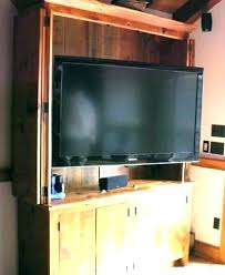hide tv furniture. Hide Tv Furniture Hidden Television Cabinet Rustic Has A Built In With .