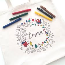 Letters Stationery Colour In Personalised Tote Bag Love Letters Stationery