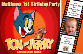 Tom and Jerry Birthday Invitations | DREVIO | Tom and jerry, Birthday  invitations, Free printable birthday invitations