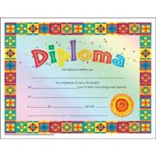Prek Diploma Preschool Diploma Spanish Certificates Incentives Awards