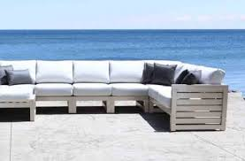 lakeview modern cast aluminum patio furniture outdoor sectional set