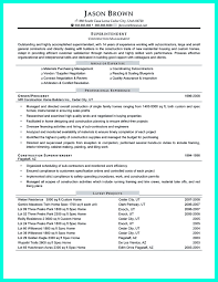 Construction Resume Skills Construction Project Manager Resume For Experienced One Must Be Made 16