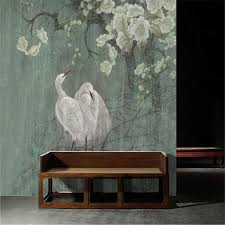 Egret Chinese painting new Chinese style wall art pen <b>hand painted</b> ...