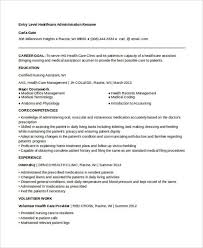 Healthcare Administration Resume Examples. Entry-Level Healthcare  Administration