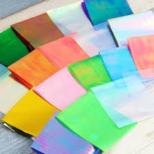 colored glass sheets together with 1 sheet born pretty glass paper nail foil candy color manicure