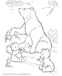 Small Picture Wild Animal Coloring Pages Wild bears eating berries Coloring