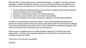 Bunch Ideas Of Cv Cover Letter Restaurant Manager Magnificent Cover