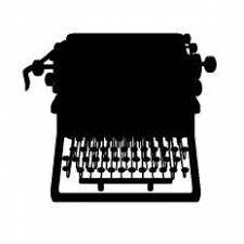 タイプライターシルエット イラストの無料ダウンロードサイト
