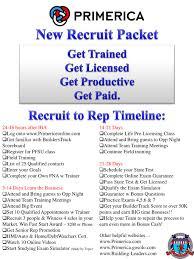 Primerica Presentation Ppt New Recruit Packet Powerpoint Presentation Id 4223793