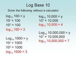 6 log base 10 solve