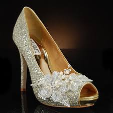 glass wedding shoes. high-there by my glass slipper wedding shoes l