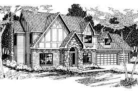 tudor house plans. Tudor House Plan - Livingston 30-046 Front Elevation Plans