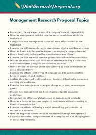 Management Research Proposal Topics By Phd Research Proposal Topics ...