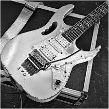 An ibanez jem evo 25th anniversary electric guitar photographed during a studio shoot for guitarist