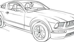 ford mustang coloring page free printable pages gt 2017
