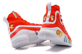 under armour shoes red and white. 2017 edition under armour curry 4 high breathable men\u0027s socks basketball shoes red / white colorful and