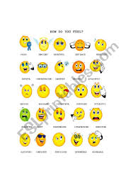 How Are You Feeling Today Printable Chart How Are You Feeling Today Chart Esl Worksheet By Driceyj
