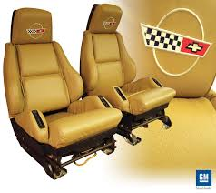 1984 1996 corvette embroidered leather sport seat covers