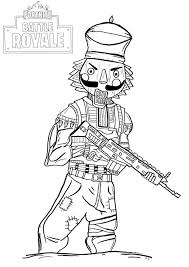 Crackshot Fortnite Coloring Page Free Printable Coloring Pages For