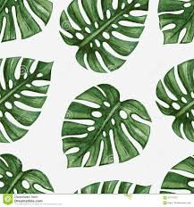 Palm Leaf Pattern Extraordinary Watercolor Tropical Palm Leaves Seamless Pattern Stock Vector