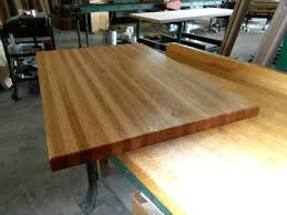 prefinished white oak butcher block countertop