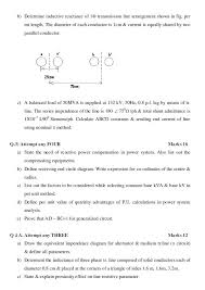 maharashtra state board of technical education msbte sample  msbte sample question paper for diploma in electrical power system fifth semester subject electrical power system analysis 12153