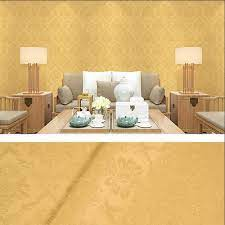 Yellow Floral Damask Self adhesive ...