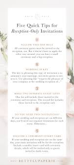 Wedding Invitation Wording For Reception Only Floral