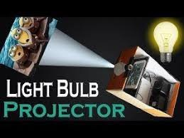 how to make smartphone projector without magnifying glass using bulb shoe box by genius world