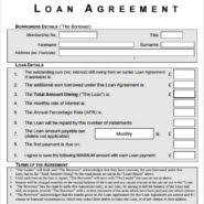 Awesome Loan Agreement Letter And Form Template Sample