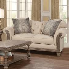 Serta Living Room Furniture Serta Upholstery By Hughes Furniture 8725 Traditional Loveseat