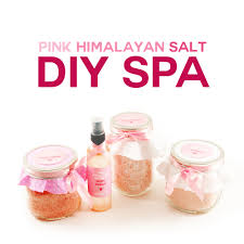 diy pink himalayan salt spa bath salts foot scrub spray aromatherapy