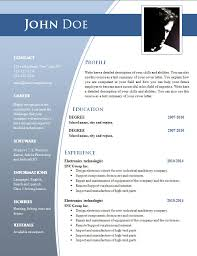 Resume Formats Word Inspiration Templates For Cv In Word Templates For Cv In Word