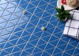 tr2 sa p3z cornflower blue porcelain triangle tile for pool bathroom decor