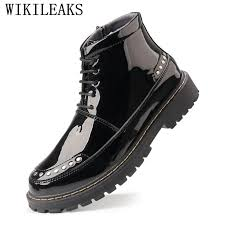 pointed toe patent leather rivet military motorcycle ankle boots lace up closure with rivets and crocodile skin design not only fit for your