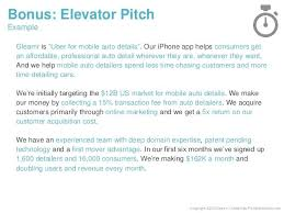 Elevator Speech Example Basic Pitch Template Examples Eve 5