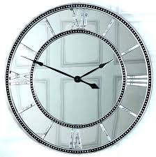 silver roman numeral wall clock large mirrored skeleton style with numerals melody clocks oversized