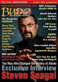 Steven Seagal Emotion Chart Poster Martial Arts Magazine Budo International 394 December 1