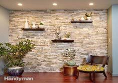 ... Charming Faux Stone Interior Wall Create A Faux Stone Accent Wall ...