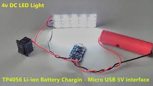 V Light Led 4v Dc Led Emergency Light With 3 7v Tp4056 Li Ion Lithium Battery 5v Micro Usb Charger Part A