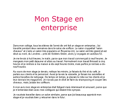 french essay mon stage en enterprise gcse modern foreign document image preview