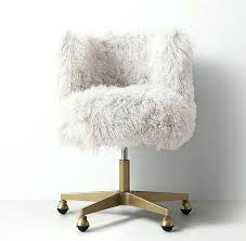white fur desk chair seating luxurious white fur upholstery makes it fun to get things done white fur desk chair