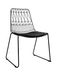 net outdoor chair replica bend wire lucy dining chairs stackable throughout metal decorations 12