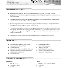 Sas Programmer Resume Sample Sas Clinical Programmer Resume clinical sas programmer resume cv do 1