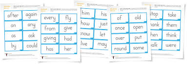 1st Grade Flash Cards First Grade Dolch Sight Word Flashcards