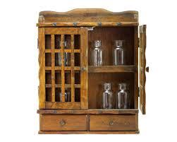 vintage wooden spice rack or storage