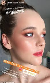 a makeup artist tries out the look inspired by sara hill on insram