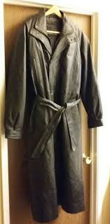 charles klein men s large 100 leather trench coat almost new for in sacramento ca offerup