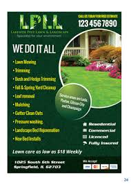 lawncare ad 28 colorful flyer designs lawn care flyer design project for